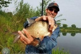 Bobber fishing for silver bream