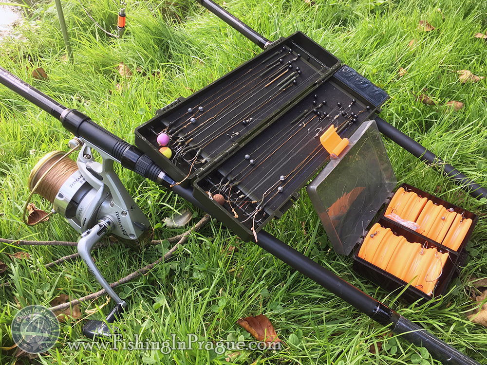 Carp fishing rigs ready for use