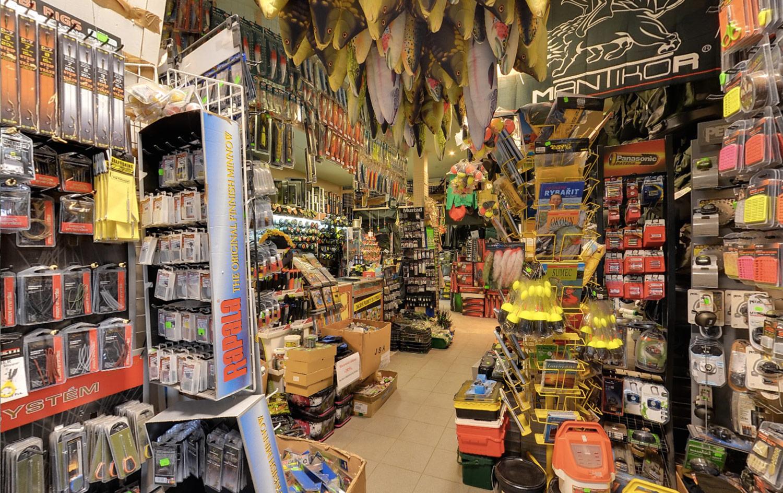 Jakub Vagner's fishing shop in Prague