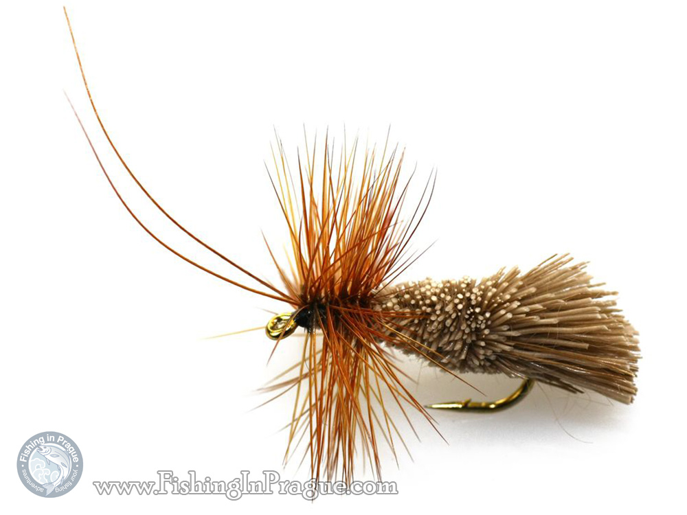 Brown caddis dry fly