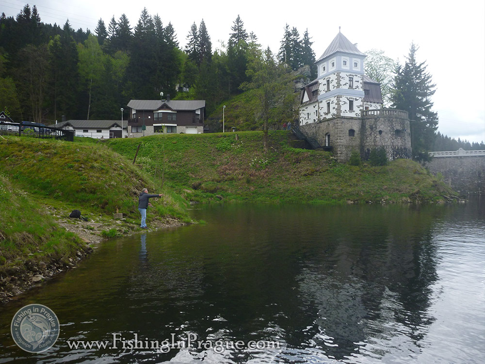 Lake fly fishing - castle near the water
