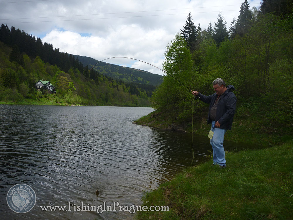 Lake fly fishing - fish draw