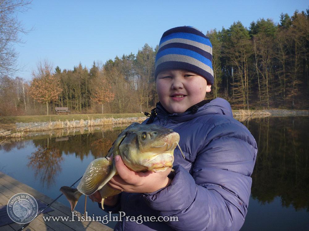 Fishing on Jakub Vagner's lake